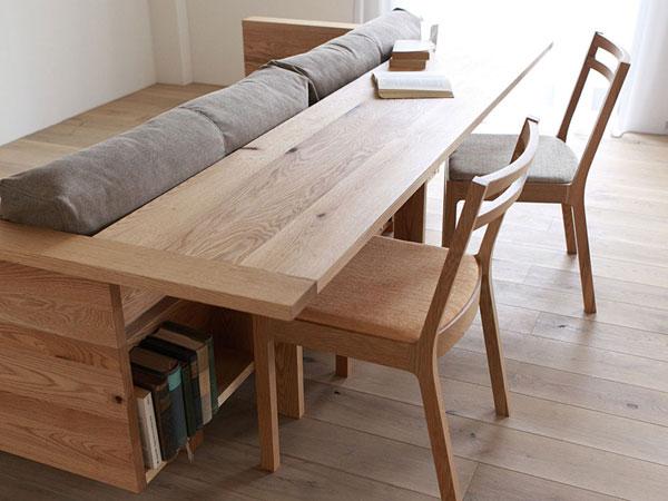 CARAMELLA(カラメッラ) カウンターソファー 114/147/168/189/210 ソファーとテーブルが一体