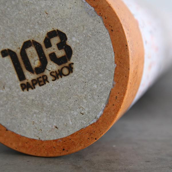 103PAPER 円錐台 オブジェ フラワーベース 一輪挿し シンプル おしゃれ 環境にやさしい エコ グレー ディスプレイ