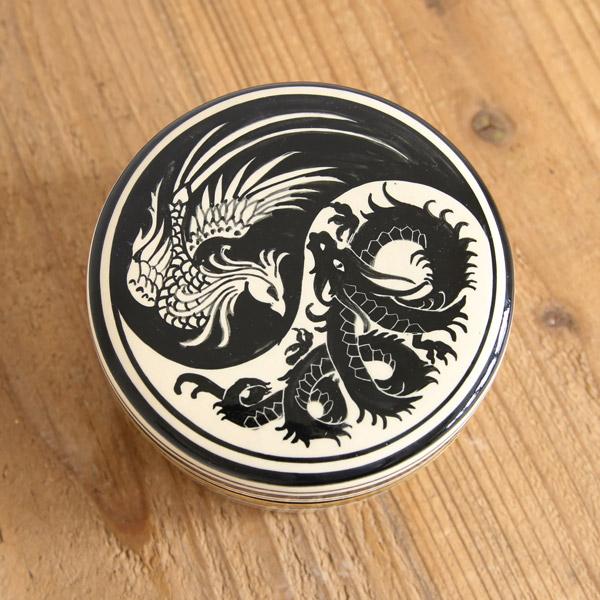 SENSO d VITA(センソ デ ヴィッタ) タイ コモノイレ ティッシュボックス タイ雑貨 小物入れ ティッシュボックス 磁器 ホワイト/ゴールド
