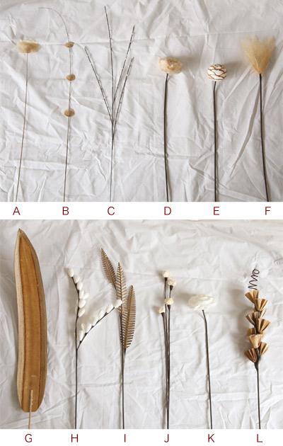 タイ雑貨 アートフラワー (造花・一輪販売) 【A〜Cタイプの販売ページ】