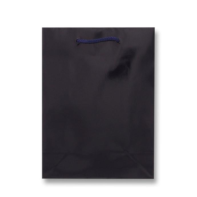 HEIKO 紐手提げ紙袋 ブライトバッグ シコン(グロスPP貼り)