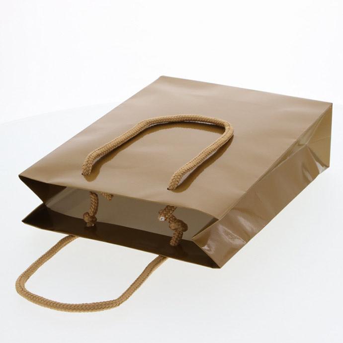 HEIKO 紐手提げ紙袋 ブライトバッグ キン(グロスPP貼り)