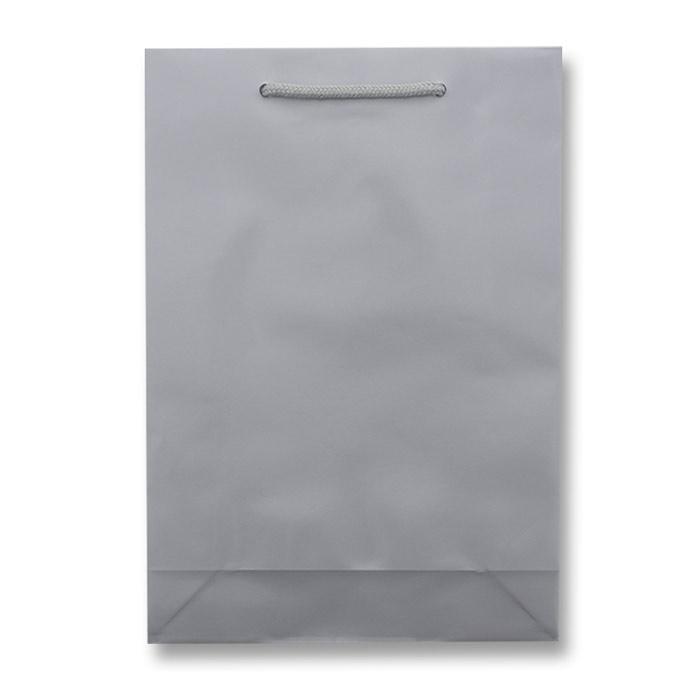 HEIKO 紐手提げ紙袋 ブライトバッグ シルバー(グロスPP貼り)