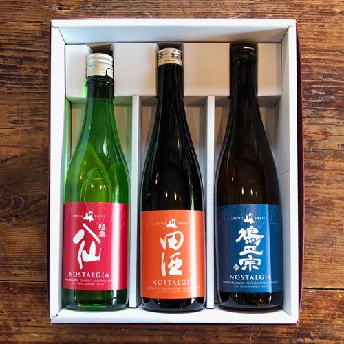 「NOSTALGIA」青森県の同志3蔵 特別純米酒 720ml×3本