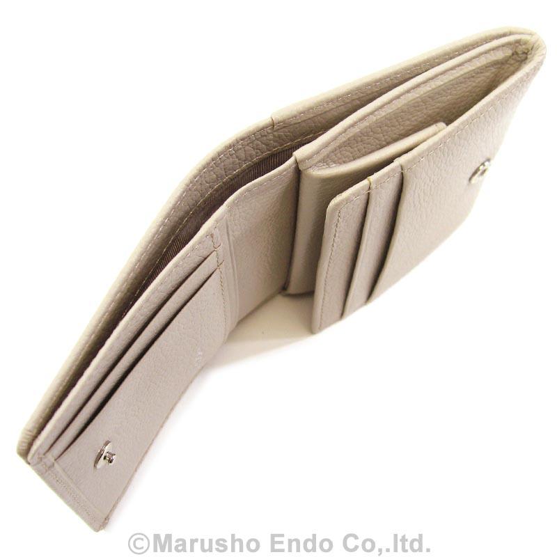 【シャルル ジョルダン】 コワン パース 2つ折り財布 ボックス型小銭入れタイプ [55-3451]/ベージュ