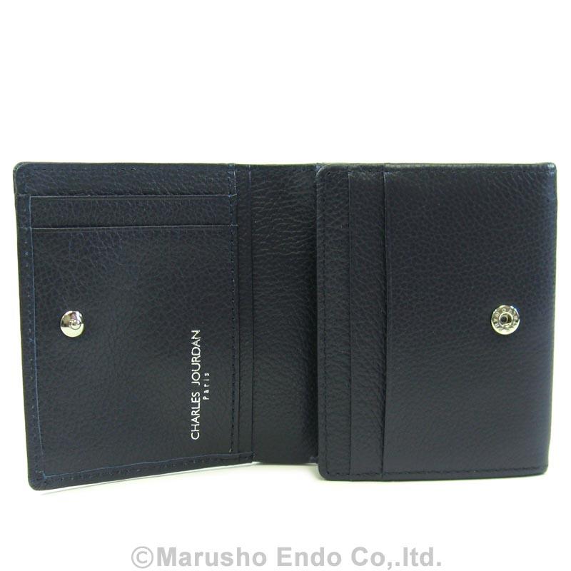 【シャルル ジョルダン】 コワン パース 2つ折り財布 ボックス型小銭入れタイプ [55-3451]/ネイビー