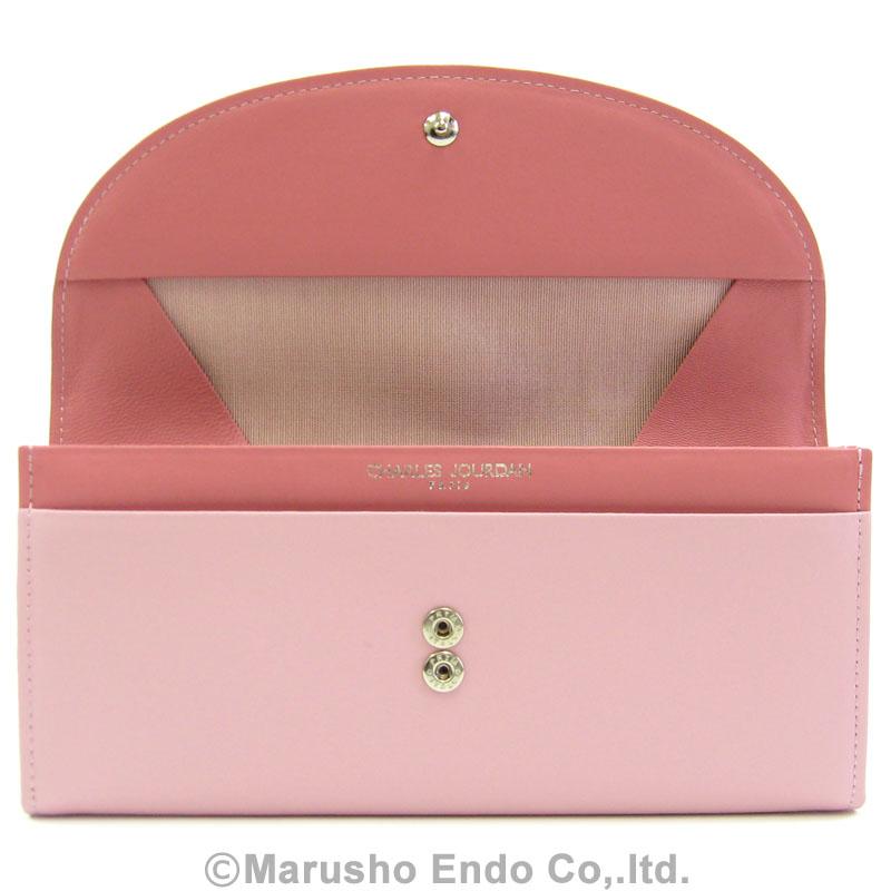 【シャルル ジョルダン】 エマーブル パース 長財布 ボックス型小銭入れタイプ [55-3353]/ピンク