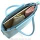 【シャルル ジョルダン】 エマーブル ショルダー付き手提げバッグ [50-5201]/ターコイズブルー