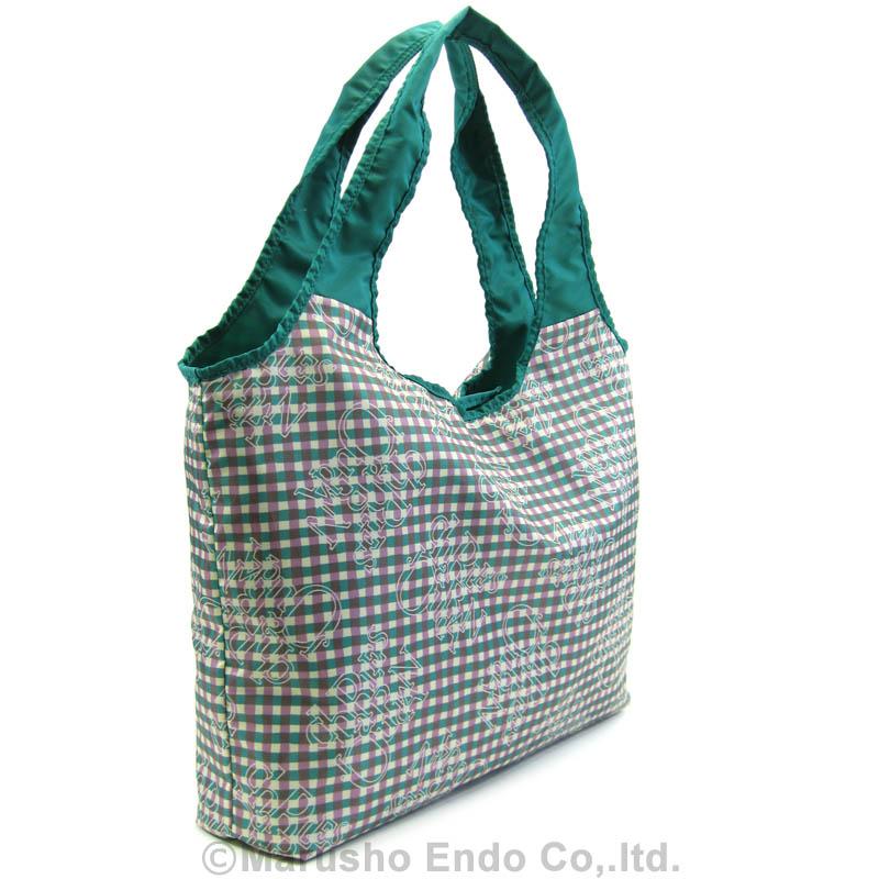 【シャルル ジョルダン】 レター パッカブルショッピングバッグ [51-0701]/グリーン