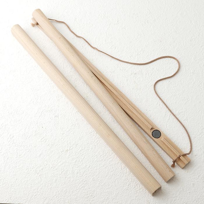 木製手ぬぐい棒 マグネット式