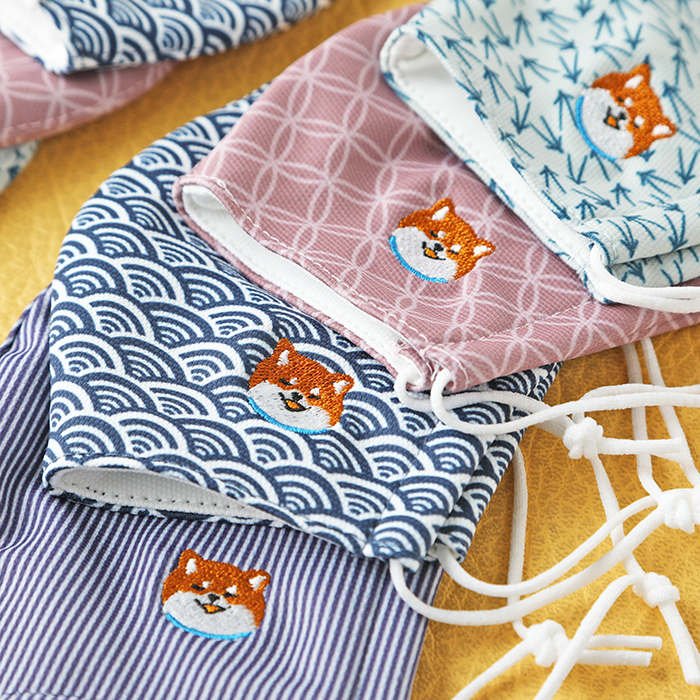 【OUTLET】It's Summer Time☆<br>【日本製】抗菌加工マスク(和柄)