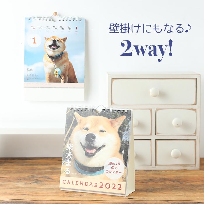 2022年 柴犬まる 週めくり卓上カレンダー