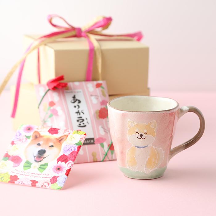 柴犬まるの Happy Mother's Day<br>美濃焼マグカップ