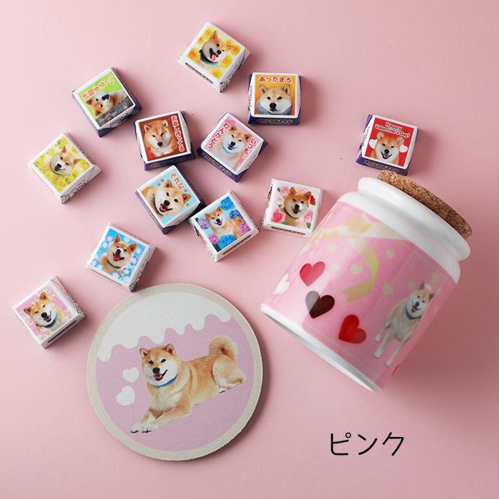 柴犬まるのDECOチョコ12個入り☆<br>シュガーポット&ラバーコースター