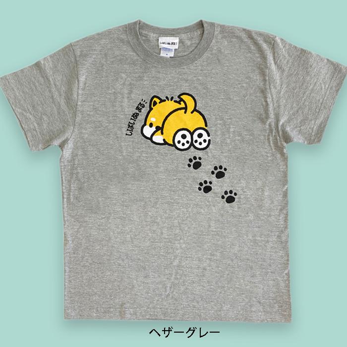 しばいぬまる Tシャツ アシアト