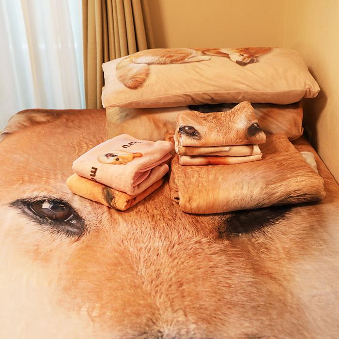 デカまるフランネル毛布