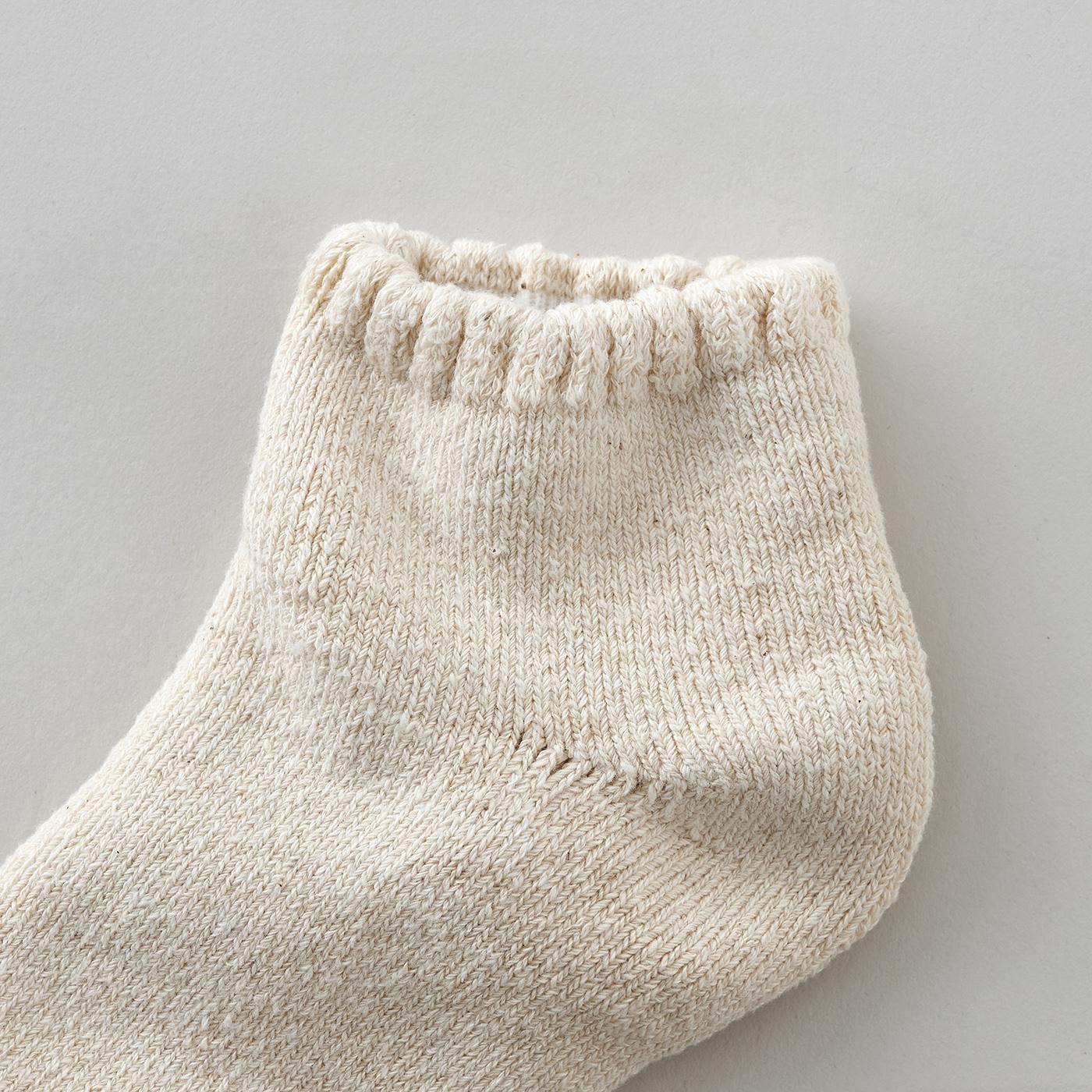 ガラ紡のくるぶし靴下