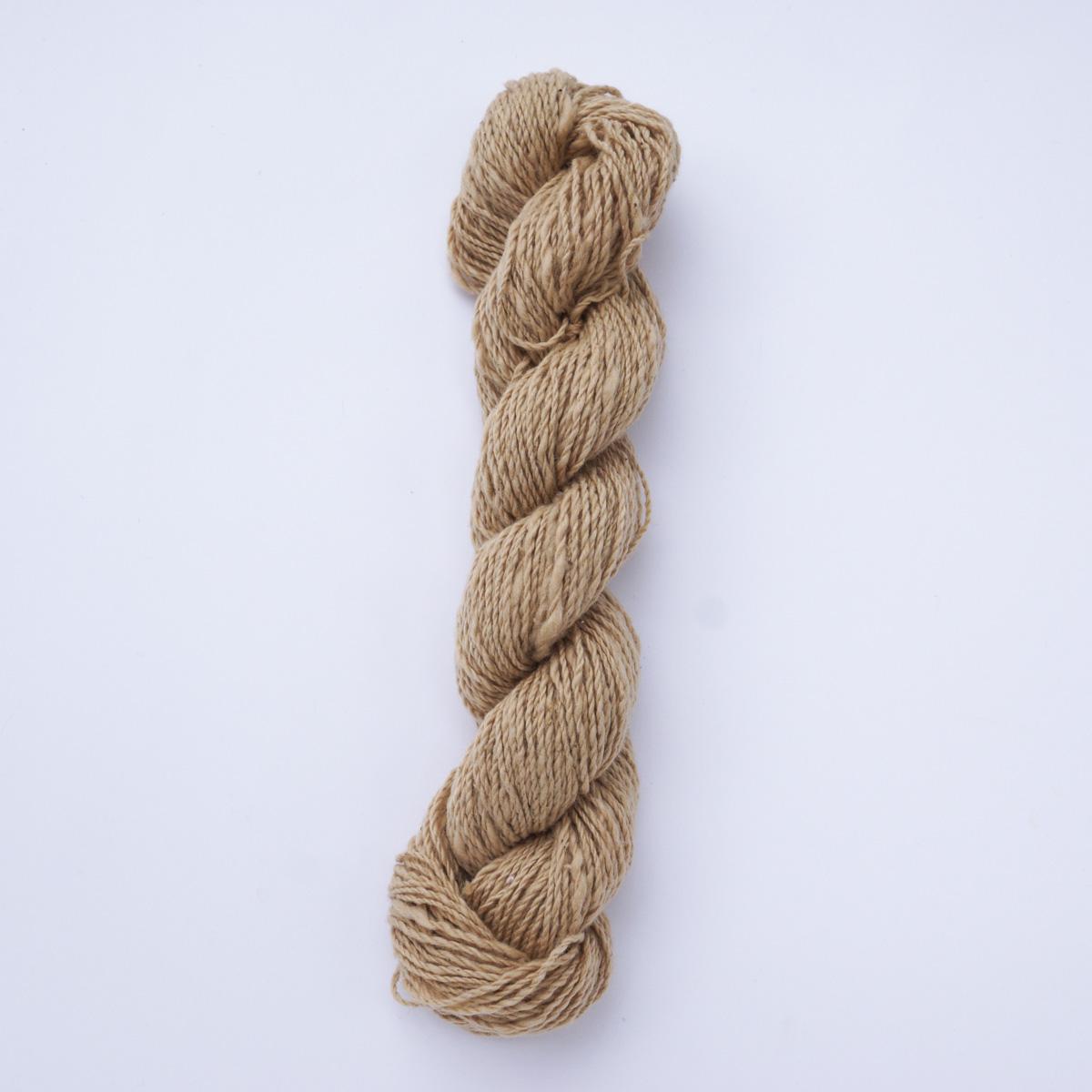 ガラ紡糸|317/2番手糸 茶綿 20g