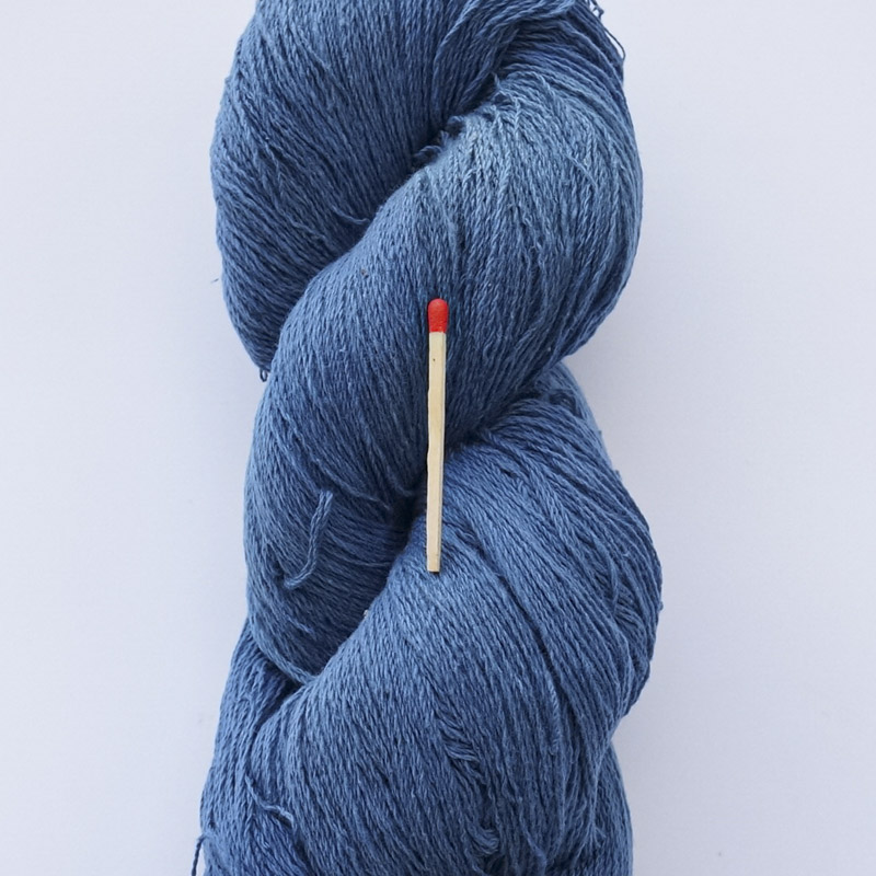 ガラ紡糸|317/2細番手糸 淡藍