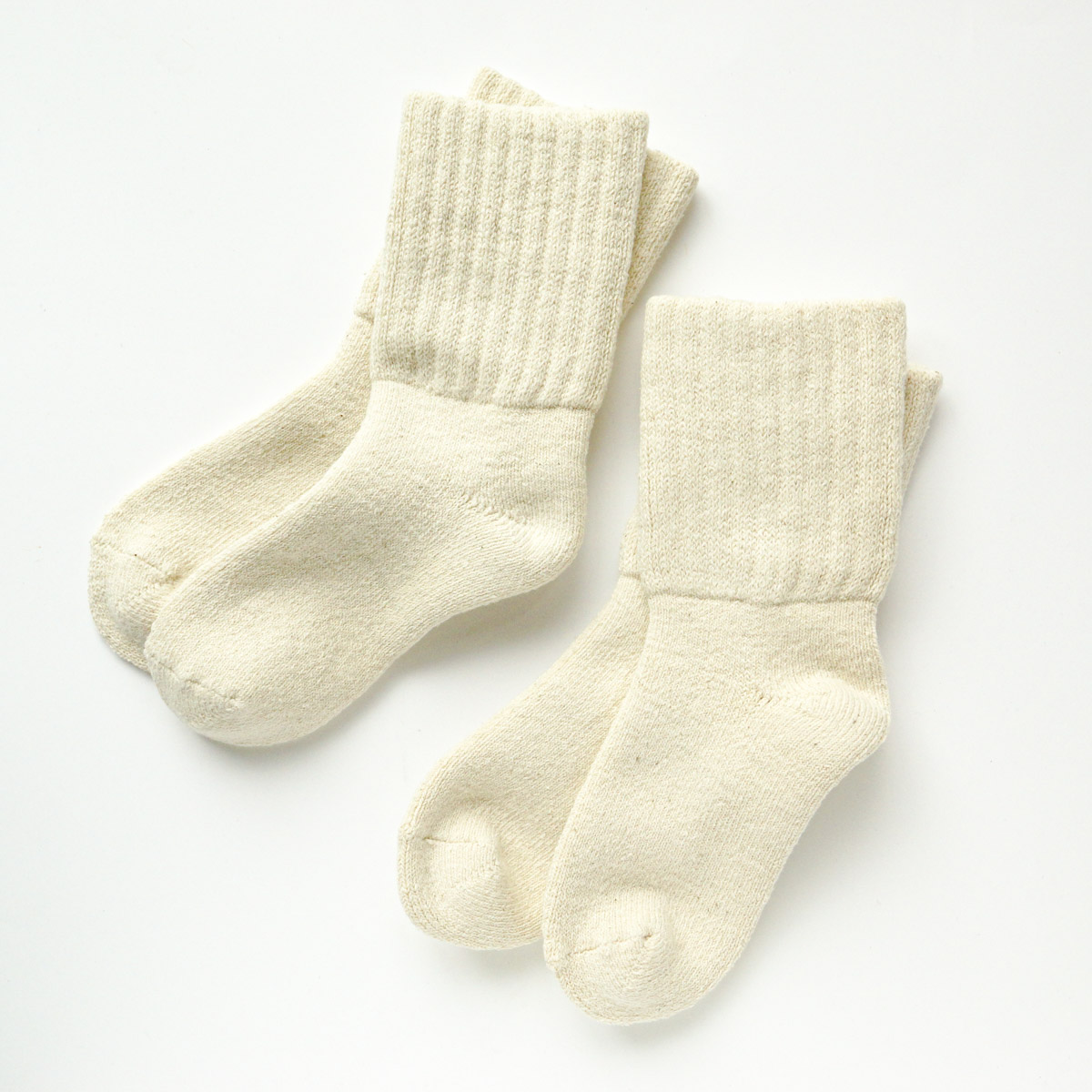 肌触りバツグンのふわふわパイル地。ガラ紡のくつろぎ靴下 2足セット