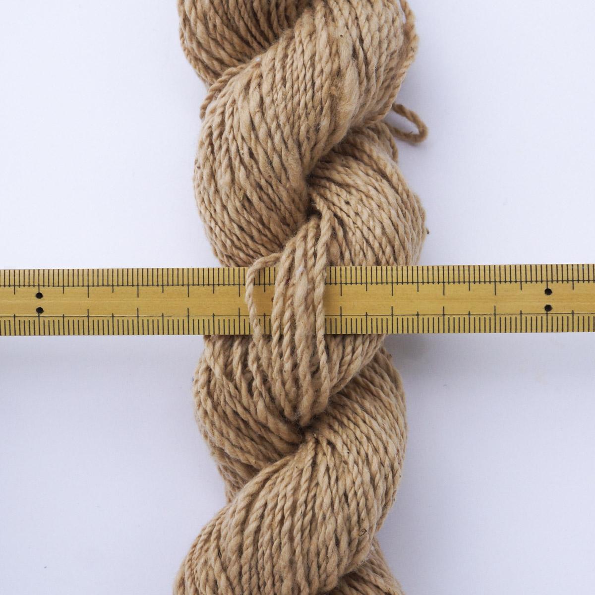 ガラ紡糸|417/2番手糸 茶綿 20g