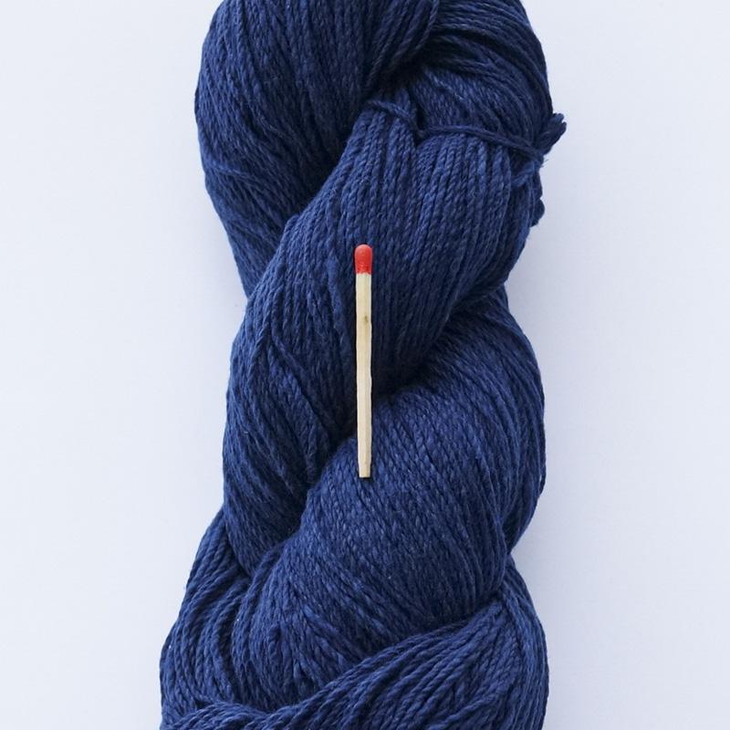 ガラ紡糸|317/2番手糸 濃藍
