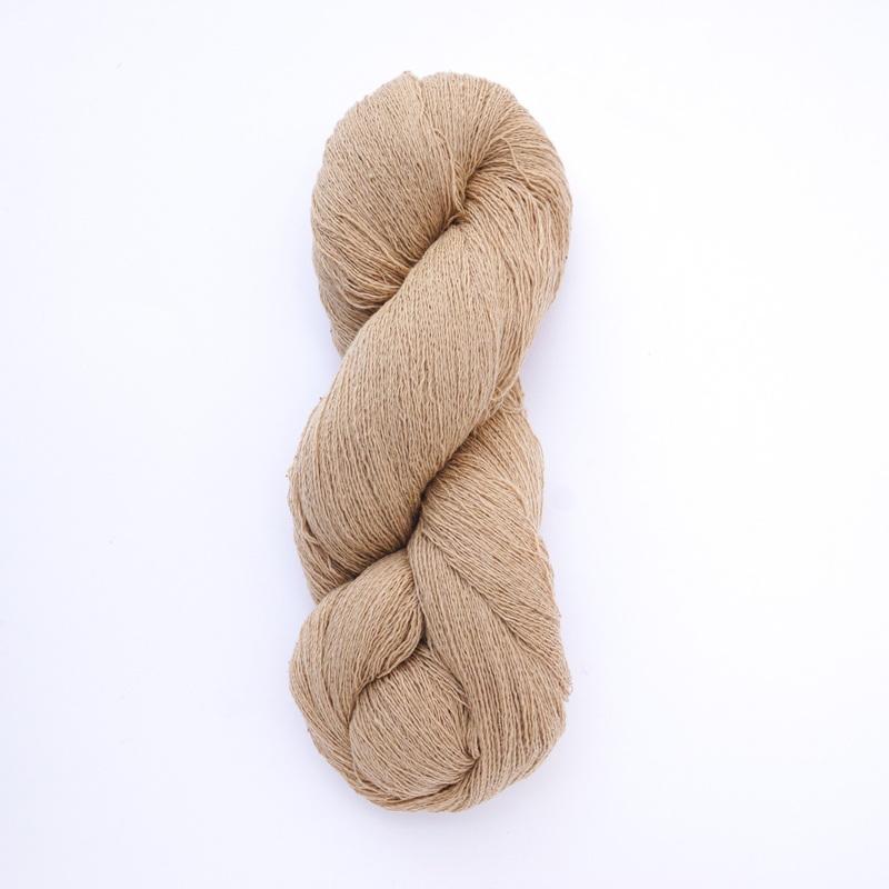ガラ紡糸|317/2 細番手糸 茶綿 100g