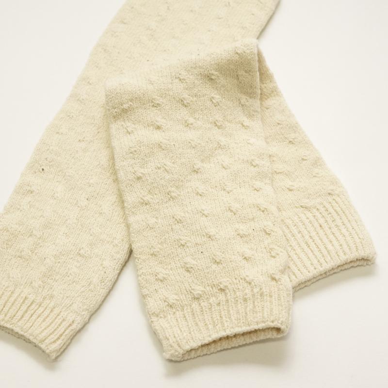 冷えてると感じたら、さっと付けられる便利なアイテム。|ガラ紡のアーム&レッグウォーマー