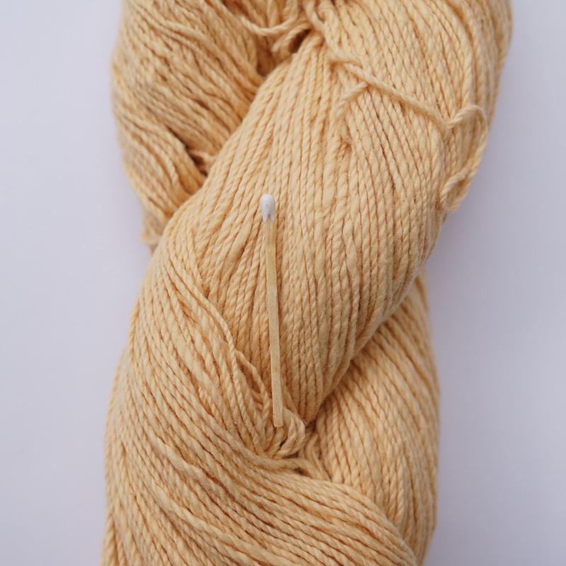 手つむぎ糸 417/2 カラー60色 卵色
