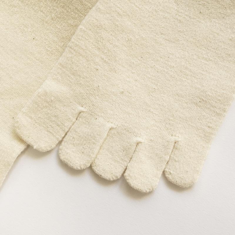 蒸れにくくて柔らかい。足指のびのびリラックス!|ガラ紡の5本指靴下 L