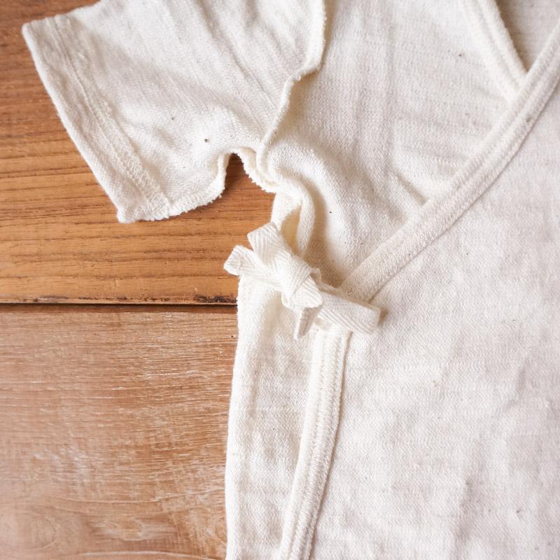 やわらかな呼吸するコットン。生まれたての赤ちゃんに|ベビー短着 50 - 60cmサイズ