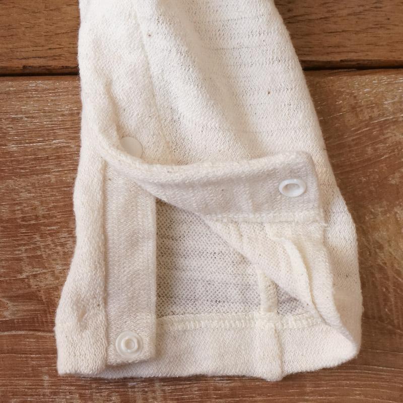 ふわっとした保温性とコットンならではの通気性を備えたベビー服です|ベビーロンパース長袖 70 - 80cmサイズ