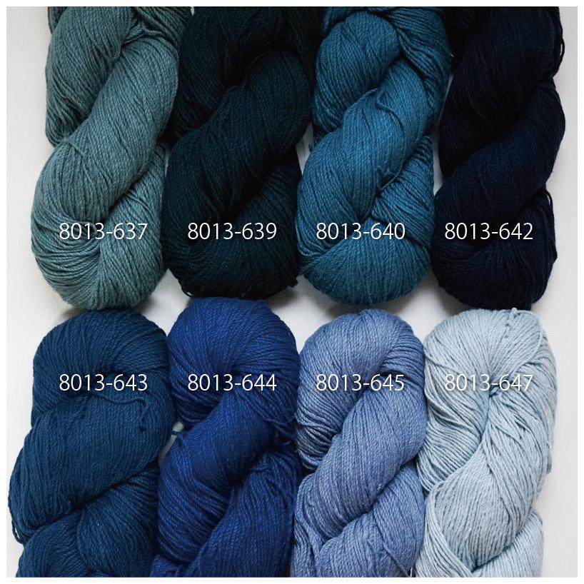 手つむぎ糸|417/2 カラー60色 藍色