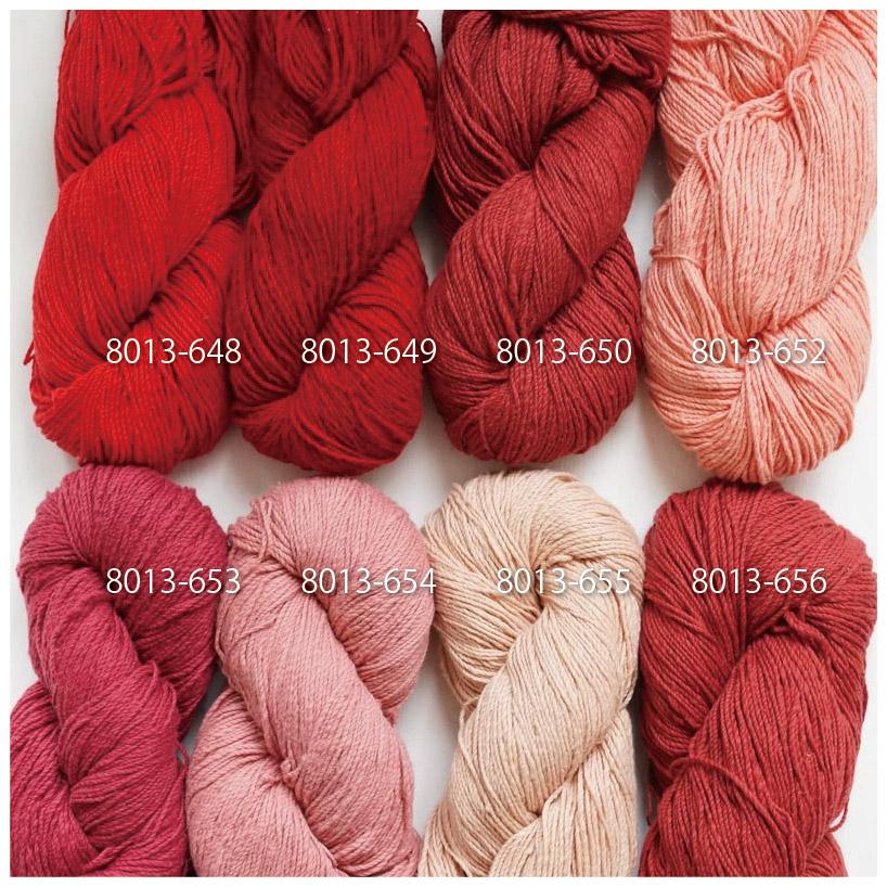 手つむぎ糸|417/2 カラー60色 臙脂色