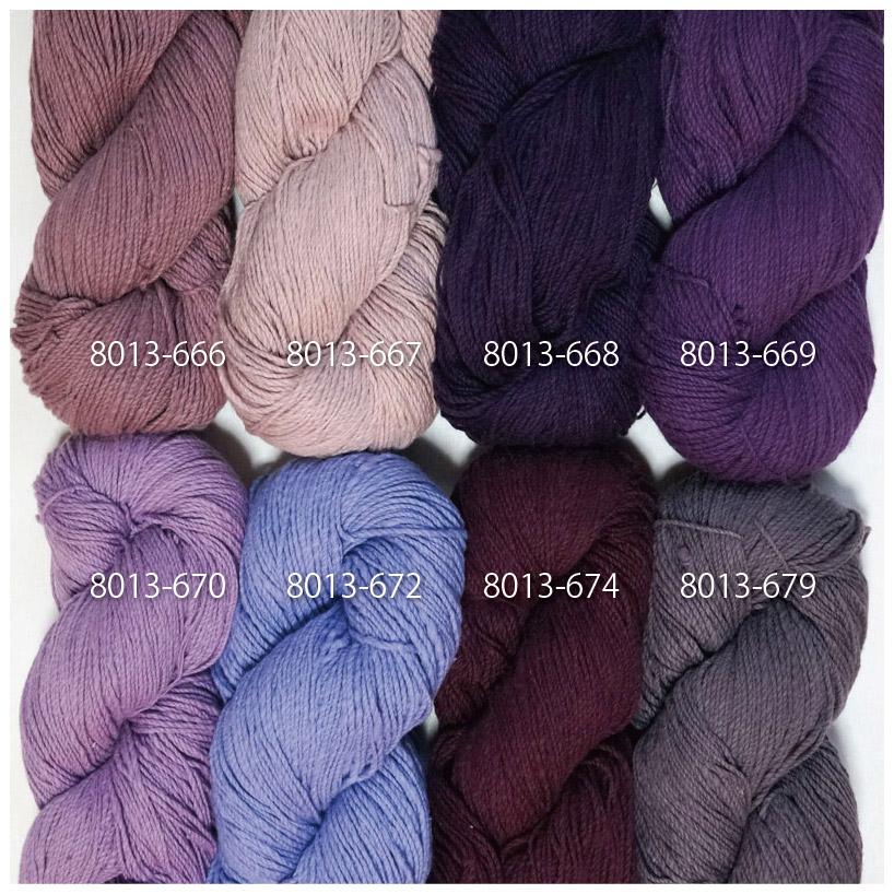 手つむぎ糸|417/2 カラー60色 藤色