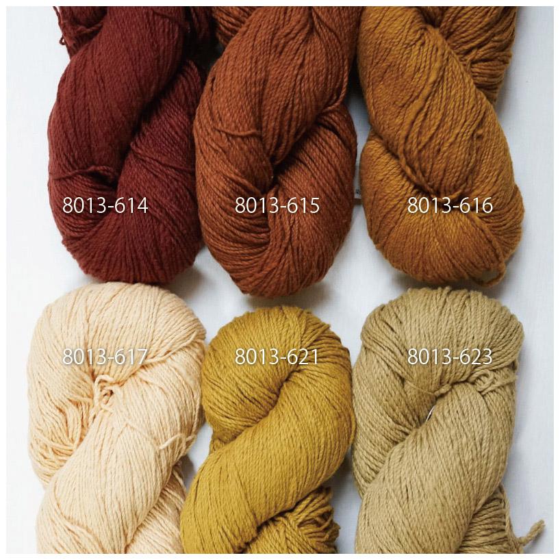 手つむぎ糸|417/2 カラー60色 代赭色