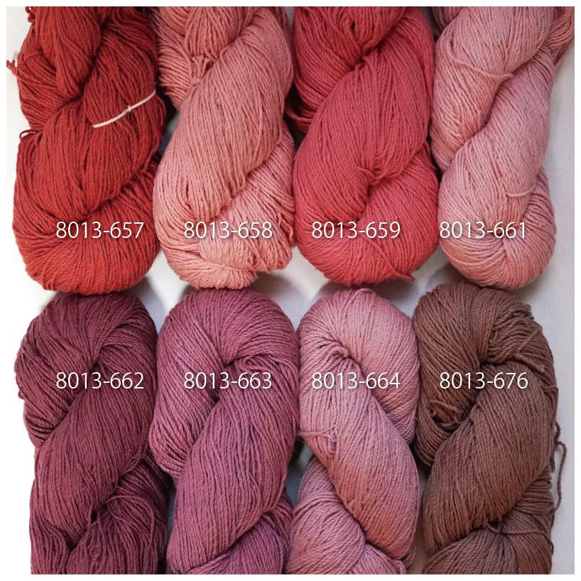 手つむぎ糸|417/2 カラー60色 猩々緋