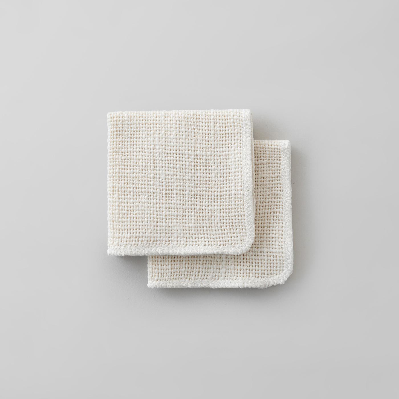 石鹸いらずの洗顔クロス。乾燥肌のスキンケアに。|ガラ紡の化粧おとし(2枚組)
