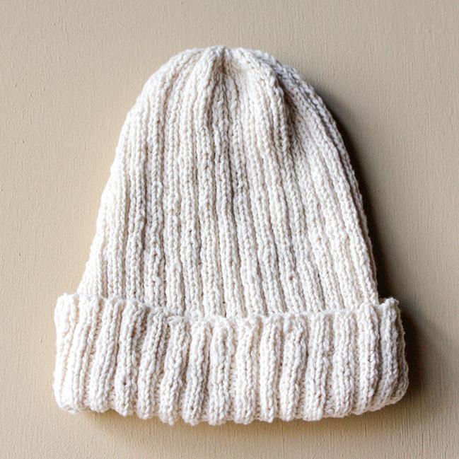 手つむぎ糸の手編みキット 帽子