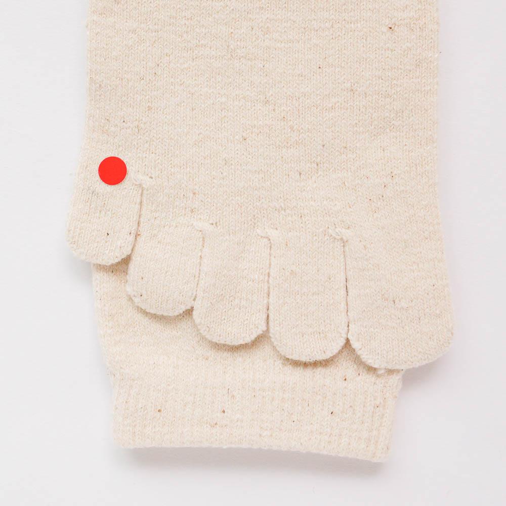 ガラ紡の5本指靴下 L 2枚組