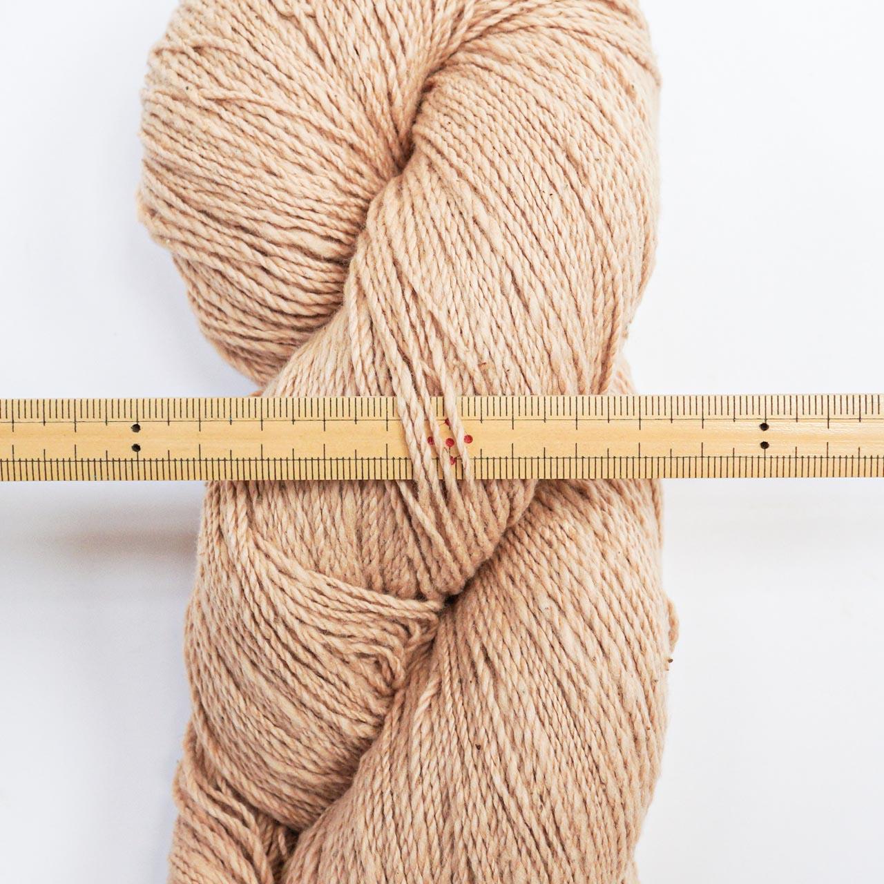 ガラ紡糸|317/2番手糸 茶綿 100g