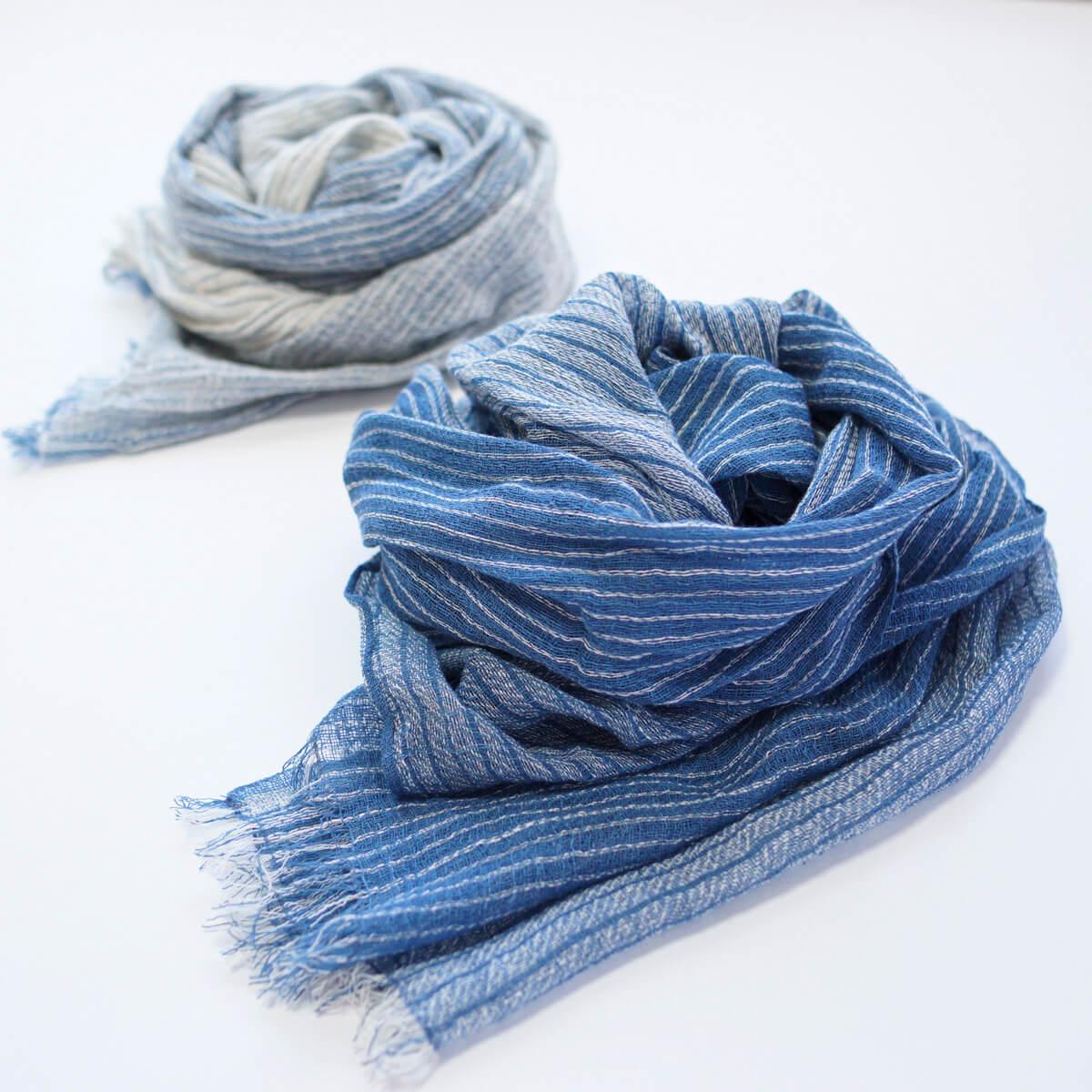 藍染めUVカットストール
