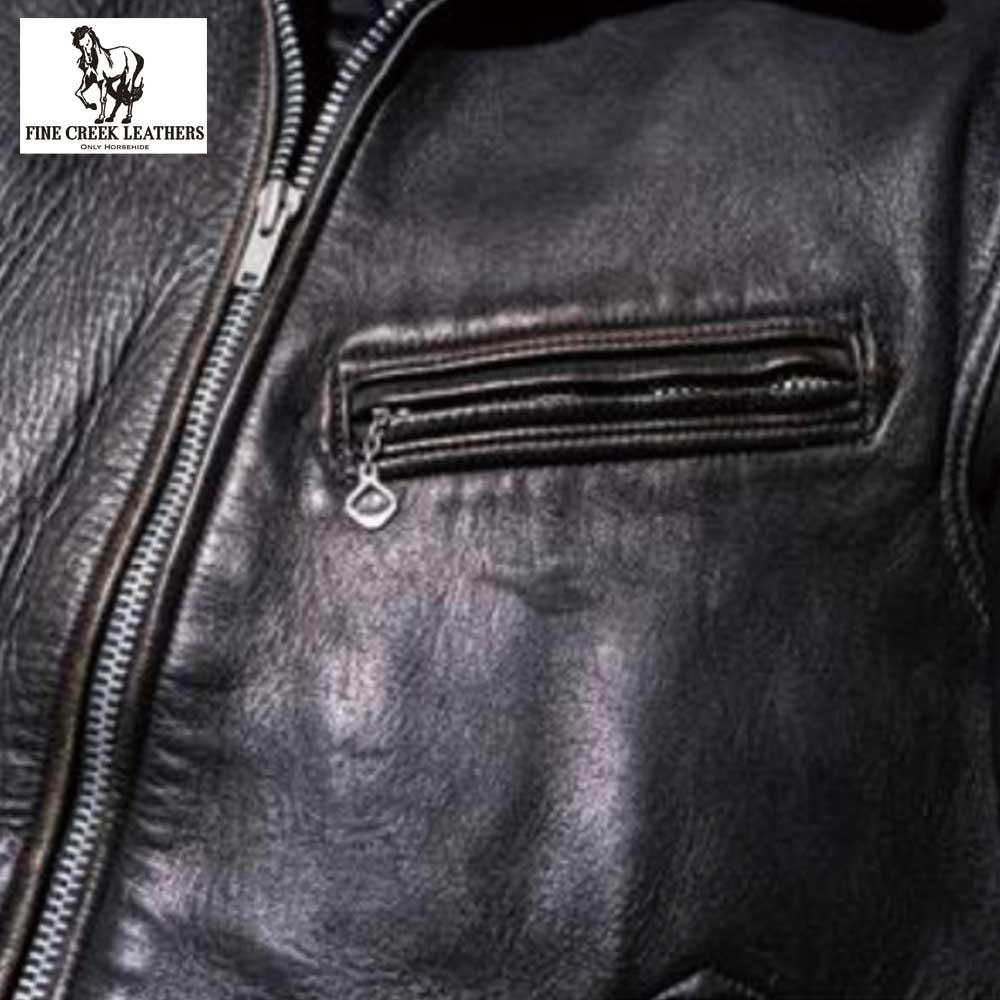 予約商品2021SS FINECREEK LEATHERS ファインクリークレザーズ  FCJK017  Eric  / BLACK