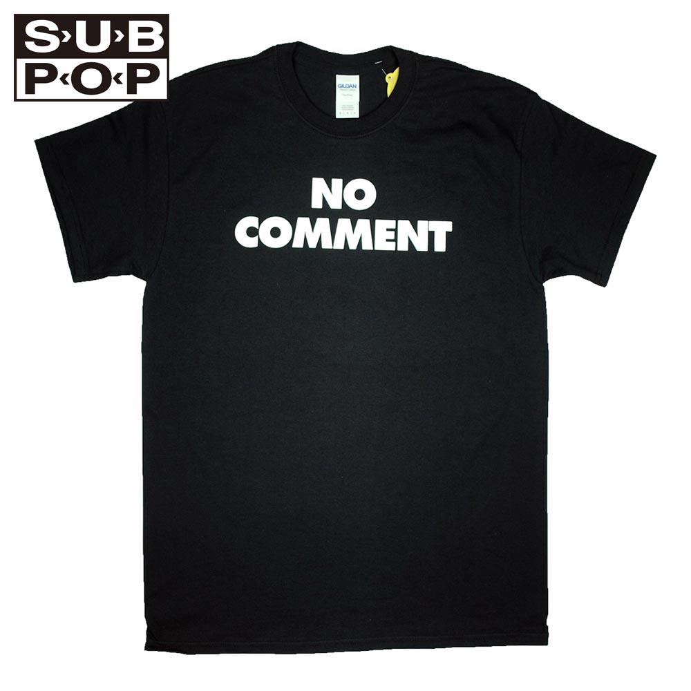 SUB POP サブポップ S/S PRINT TEE  NO COMMENT / BLACK