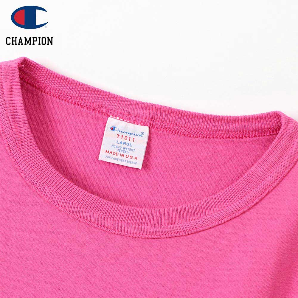 Champion チャンピオン T1011 POCKET-Tee MADE IN USA / D.PINK