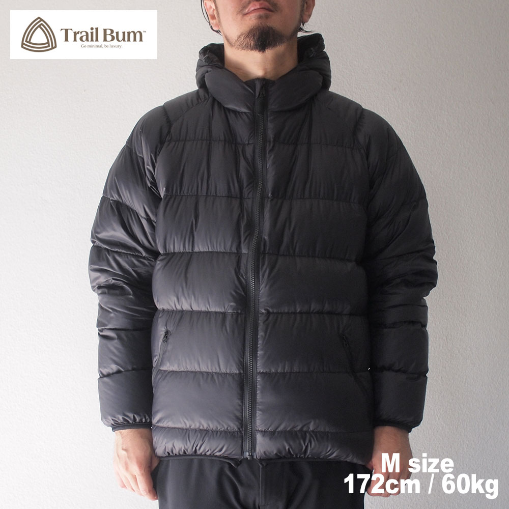 TRAIL BUM トレイルバム NANGA ナンガ NOT BAD DOWN HOODY  / RAVEN