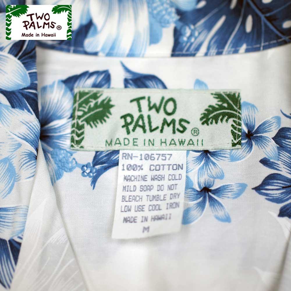 TWO PALMS トゥーパームス SS HAWAIIAN SHIRTS / PACIFIC PANEL WHITE