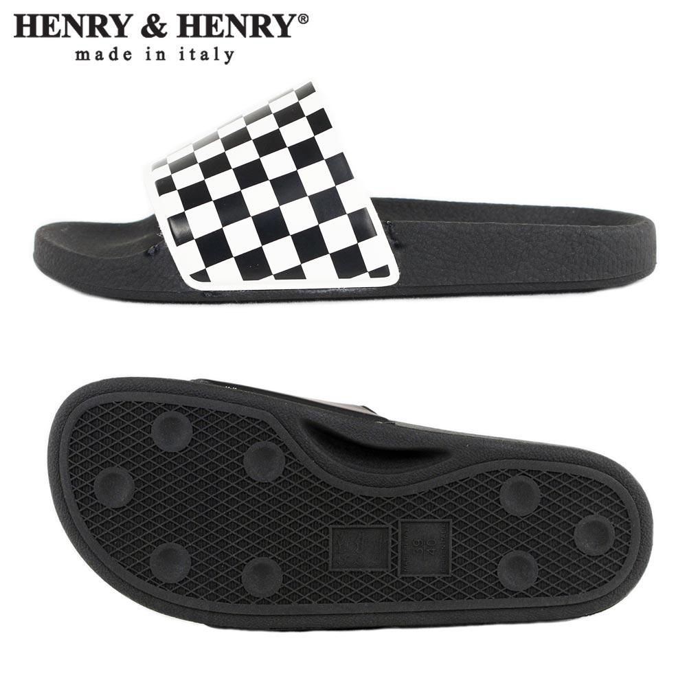 HENRY&HENRY  180 / BLK/WHT CHECK × BLACK