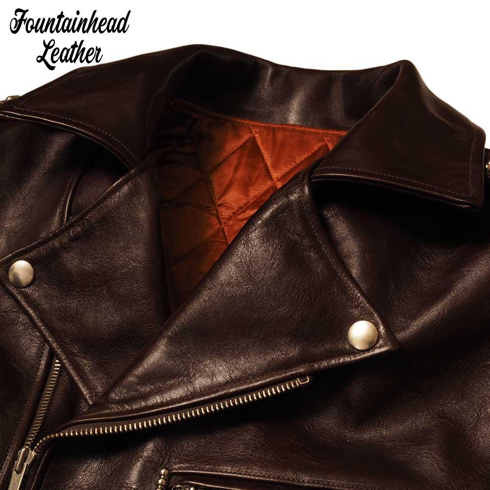 予約商品 FOUNTAINHEAD LEATHER ファウンテンヘッドレザー  DELTA  / BROWN