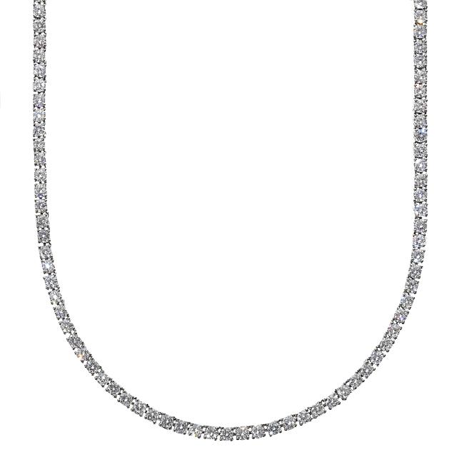3mm x45cm テニスネックレス CZダイヤ(キュービックジルコニア) テニスチェーン ホワイトゴールド TENNIS NECKLACE